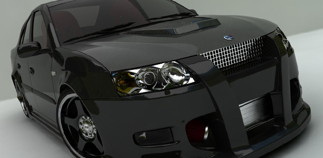 Saab Carbon Fiber Hoods