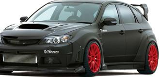 Subaru WRX Matte Black Wraps