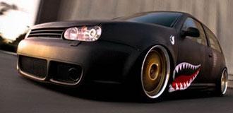 VW Golf Matte Black Wraps