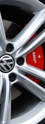 VW Red Custom Caliper Covers