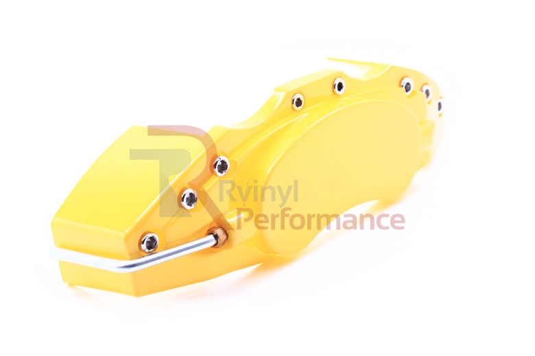 2008 BMW 5-Series Yellow Caliper Covers