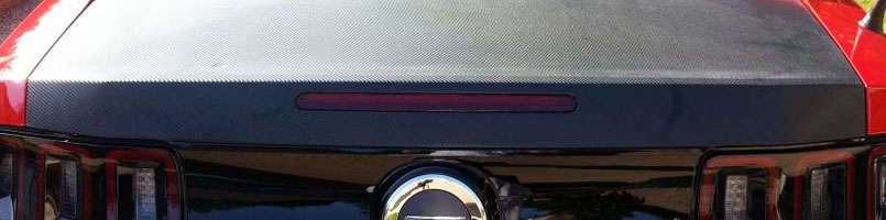 Ford Mustang Carbon Fiber Trunk Wrap