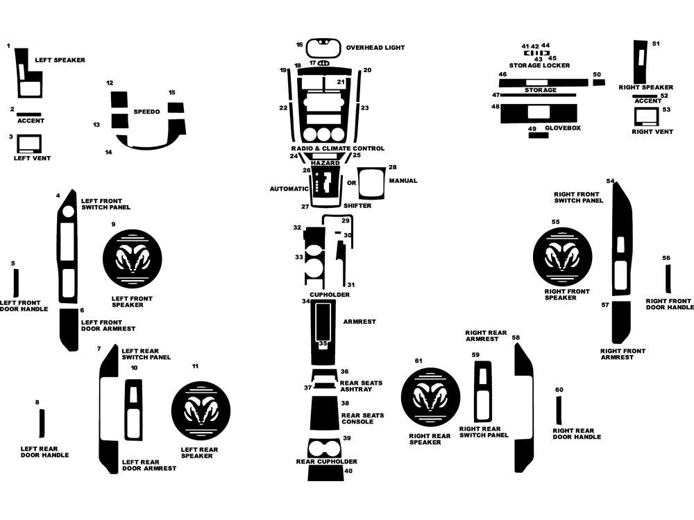 dash kit decal auto interior trim dodge caliber 2007