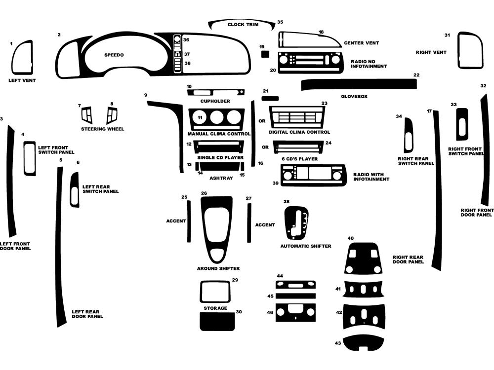 Dash Kit Decal Auto Interior Trim For Saab 9