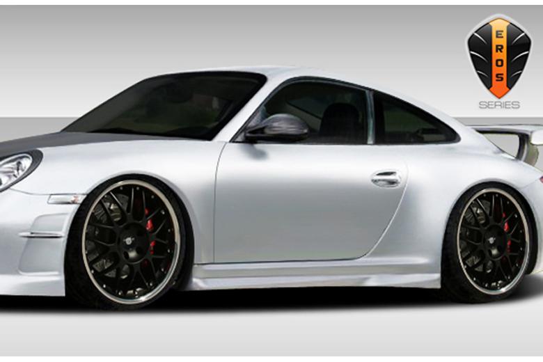 2009 Porsche 911 Duraflex Eros Version 2 Sideskirts