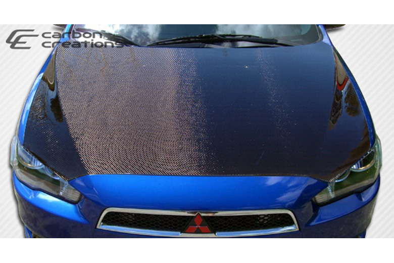 2009 Mitsubishi Lancer Carbon Creations Hood