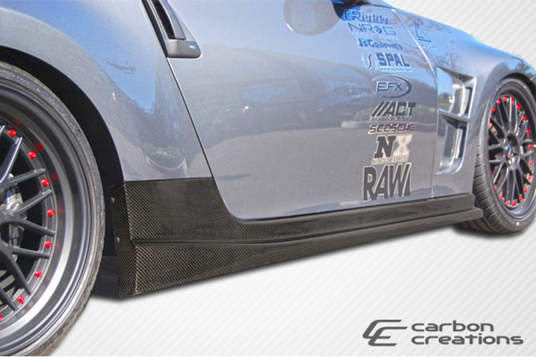 2010 Nissan 370Z Carbon Creations N-1 Sideskirts