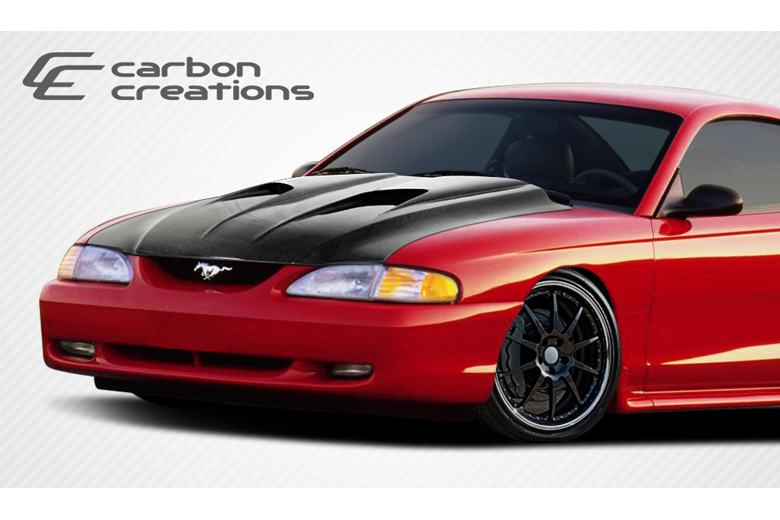 1996 Ford Mustang Carbon Creations Mach 2 Hood