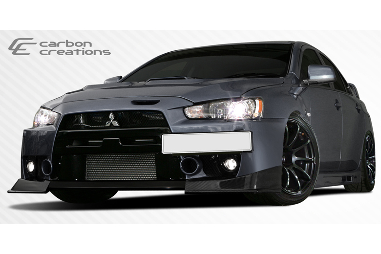 2009 Mitsubishi Evolution Carbon Creations RS Look Front Lip (Add On)