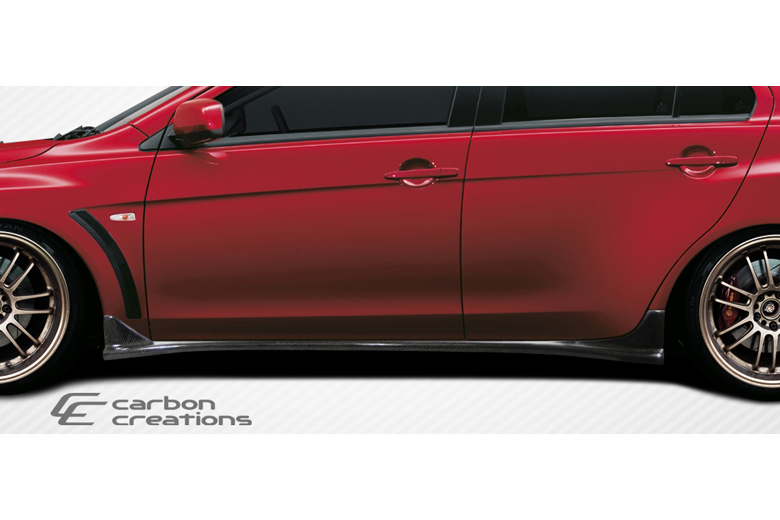 2009 Mitsubishi Evolution Carbon Creations RS Look Sideskirts