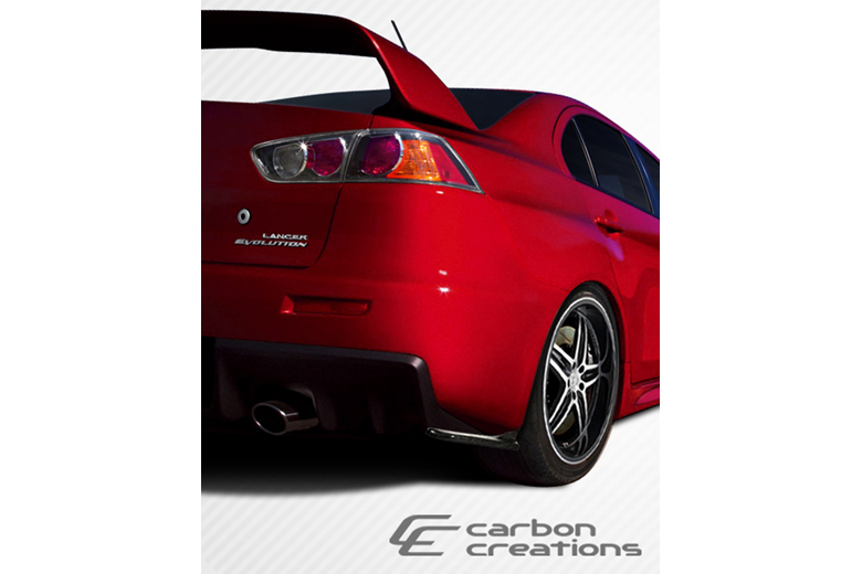 2009 Mitsubishi Evolution Carbon Creations RS Look Rear Lip (Add On)