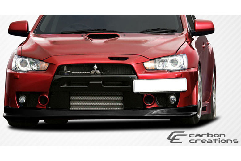 2009 Mitsubishi Evolution Carbon Creations VR-S Front Lip (Add On)