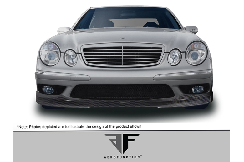 2004 Mercedes E-Class Aero Function AF-1 Front Lip (Add On)