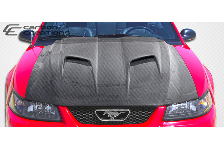 2000 Ford Mustang Carbon Creations Mach 2 Hood