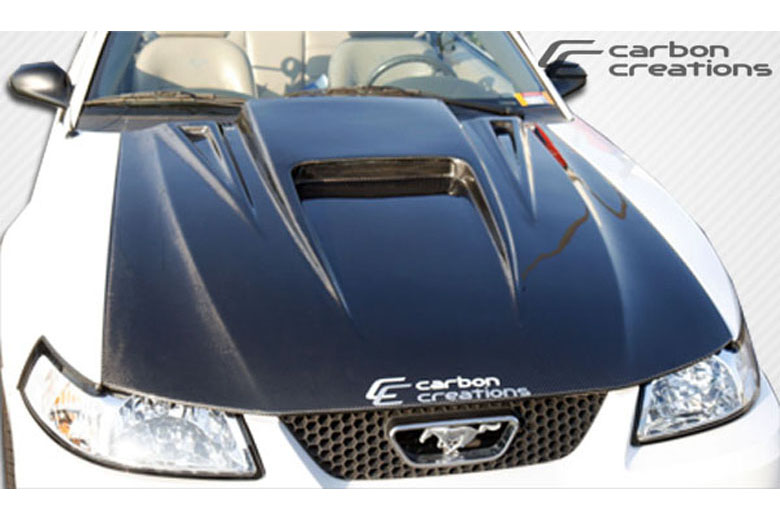 2003 Ford Mustang Carbon Creations Spyder 3 Hood