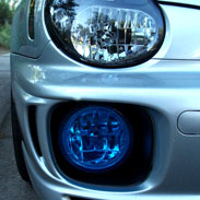 Blue Subaru WRX Fog Light Covers