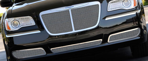 2002 Nissan Frontier Chrome Grille Guards