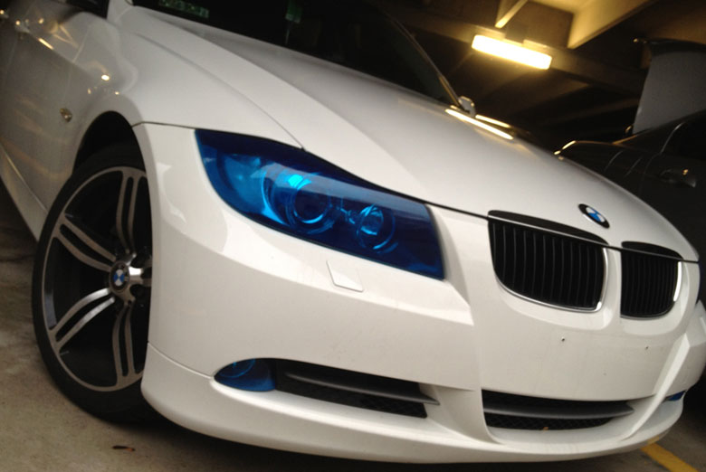 2010 BMW 335i Custom Headlight Covers