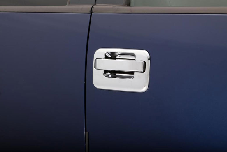 2004 Ford F-150 Chrome Door Handle Covers W/ Passenger Keyhole W/O Keypad (2 Door)