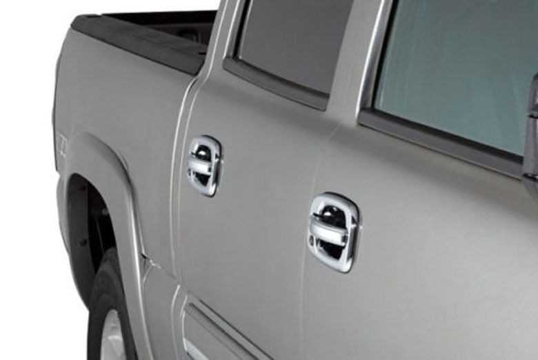 2003 Chevrolet Silverado Chrome Door Handle Covers W/ Passenger Keyhole (4 Door)