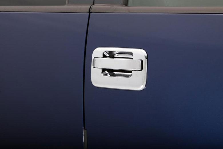 2004 Dodge Ram Chrome Door Handle Covers W/ Passenger Keyhole (2 Door)