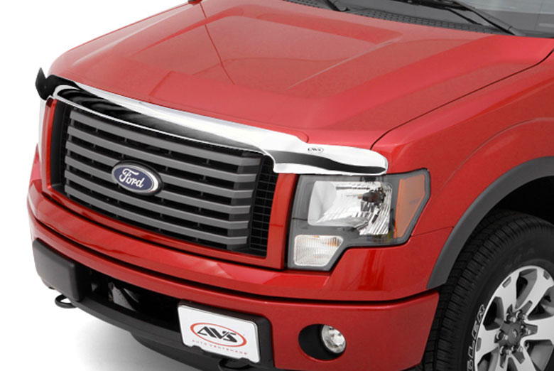 2014 Ford F-550 AVS Chrome Hood Shield