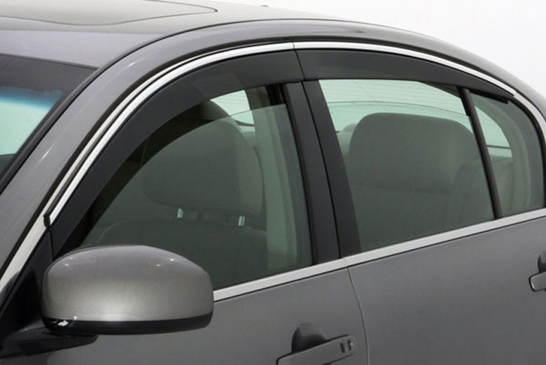 AVS Ventvisor Chrome Low Profile Window Visor Wind Deflectors