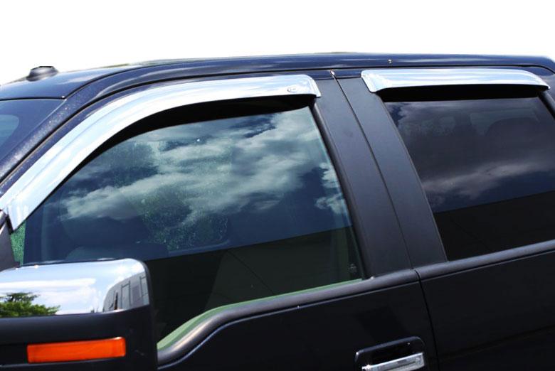 Avs Ventvisor Chrome Window Visors Crew Cab For Gmc