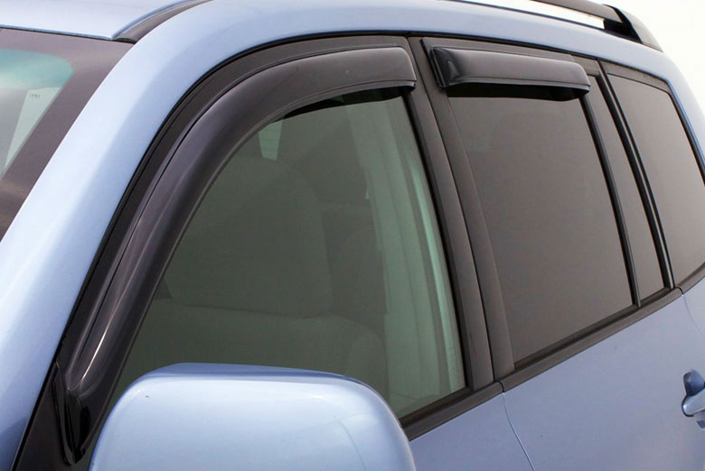 AVS Ventvisor Smoke In-Channel Window Visor Wind Deflectors (Crew / Mega Cab)