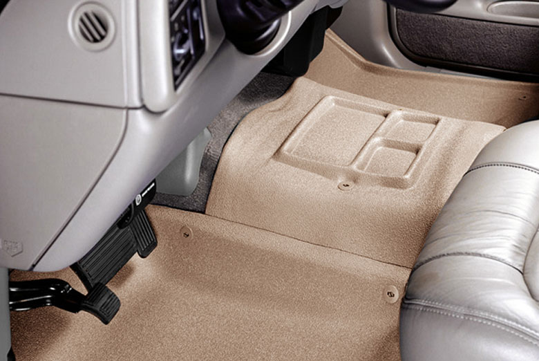 1998 GMC Yukon Catch-All Xtreme Tan Center Hump Floor Mats W/ Center Console W/O 4WD Floor Shifter
