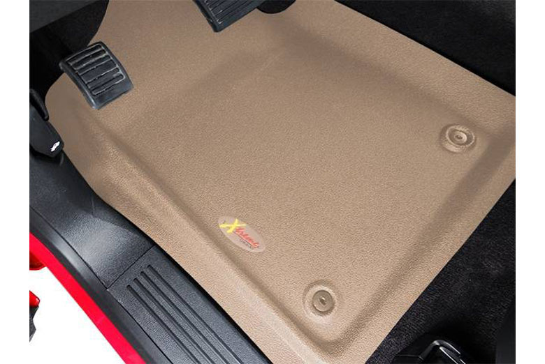 1996 Chevrolet Tahoe Catch-All Xtreme Tan Front Floor Mats W/O Rear Air W/O Floor Shifter