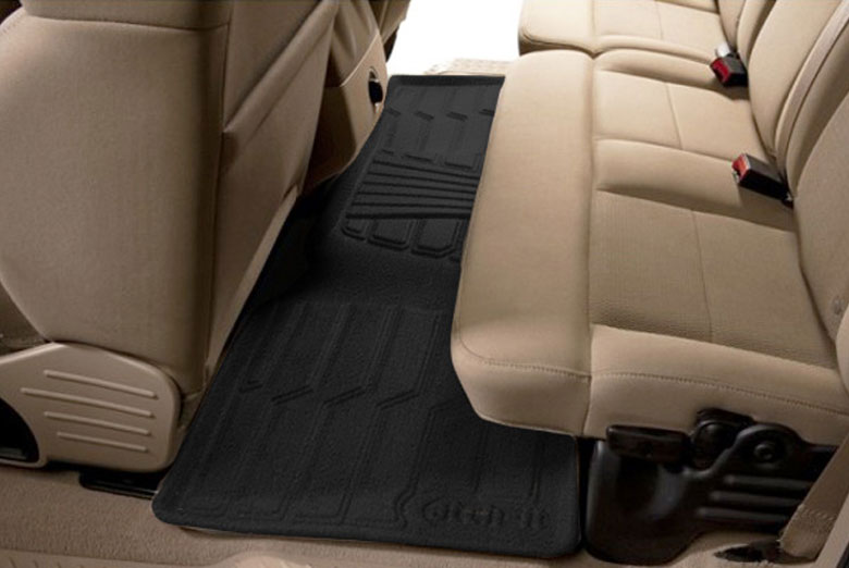 2009 Toyota Sequoia Catch-It Black Carpet Rear Floor Mats W/ 2nd Row