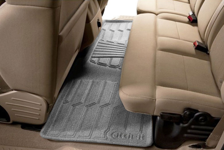 2009 Toyota Sequoia Catch-It Gray Carpet Rear Floor Mats W/ 2nd Row