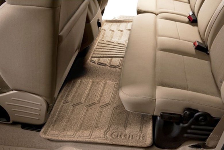 2009 Hyundai Santa Fe Catch-It Tan Carpet Rear Floor Mats