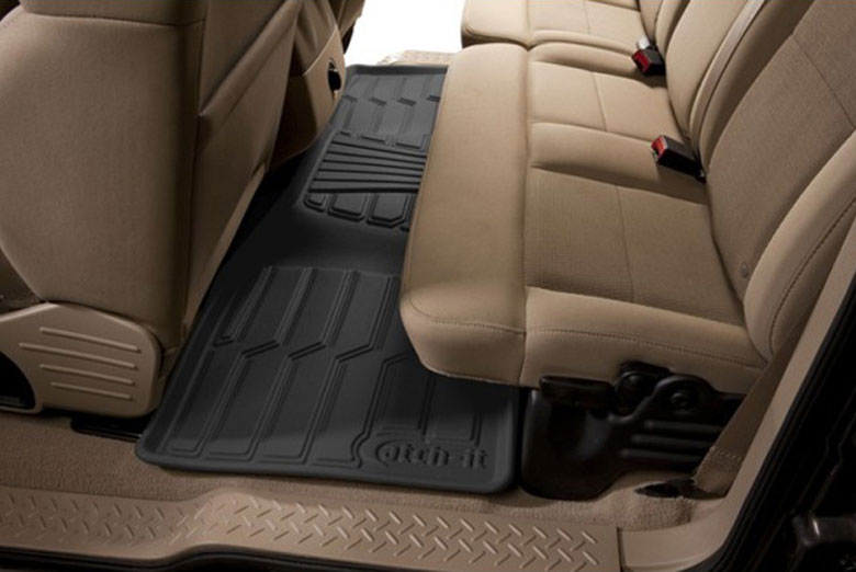 2012 Dodge Durango Catch-It Black Rear Floor Mats W/ 3rd Row Seats