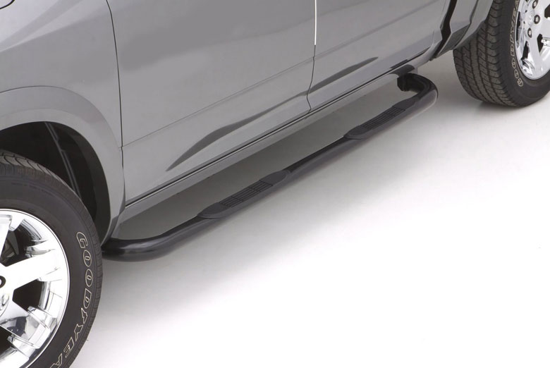 "2010 Toyota Tundra 3"" Curved Black Steel Round Side Steps (Double Cab)"