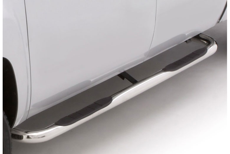 "2011 GMC Sierra 3"" Curved Stainless Steel Round Side Steps (Crew Cab) (Heavy Duty)"