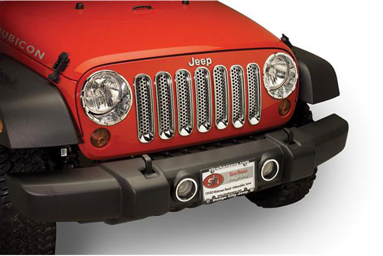2012 Jeep Wrangler Fog Light Bezels