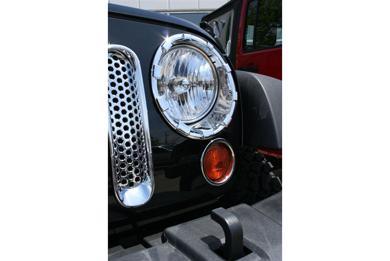 2009 Jeep Wrangler Headlight Bezels