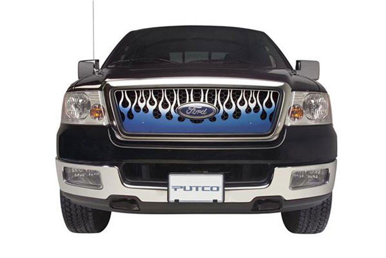 2013 Chevrolet Avalanche Flaming Inferno Blue Grille