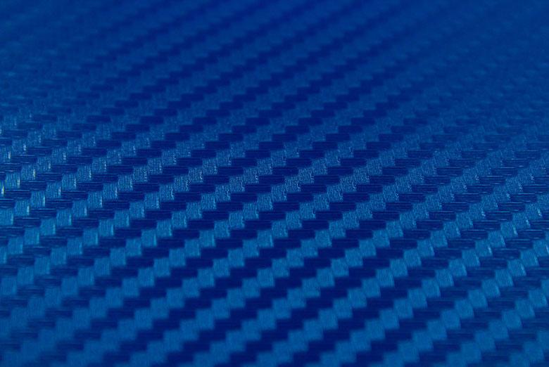 Carbon Fiber Vinyl Blue