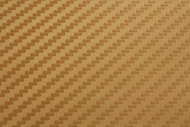 Carbon Fiber Vinyl Gold