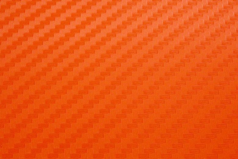 Carbon Fiber Vinyl Orange