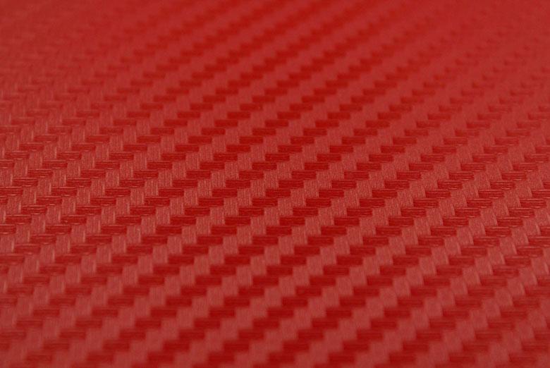 Carbon Fiber Vinyl Red