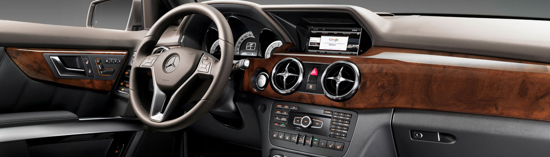 Wood dash kit inside Mercedes